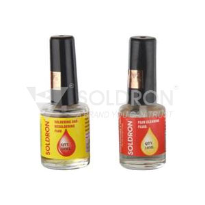 Soldron Soldering Flux and Flux Cleaner (10ml each)